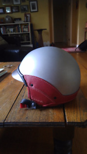 Classic Vespa Leather Trimmed Helmet (L)