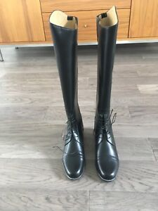 Brand New Black Leather Riding Boots