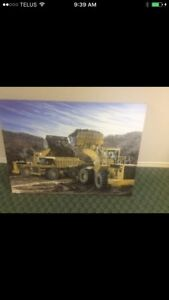 "27"" x 36"" Loaders in the Pit - Ltd Edition Canvass"