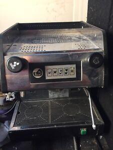 La pavoni single or double shot professional espresso machine.