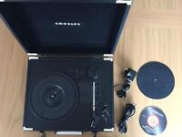 Executive Briefcase Style Three Speed Enabled Turntable and record cleaning kit