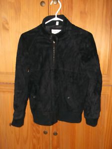 REDUCED--LADIES BLACK FALL SUEDE JACKET