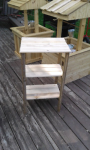 Wooden plant stand  ¤ $25 ¤