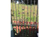 """QUICKSALE"" handmade Wrought iron gates"