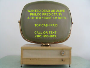 PHILCO PREDICTA & 1950'S TV SETS TELEVISION WORKING OR NOT $$$