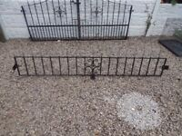 Wrought iron railings / wall toppers / driveway / metal fence / steel fence / patio / garden / gates
