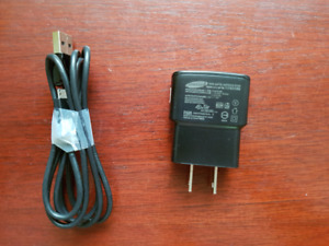 Samsung 1Amp cell phone charger and cable