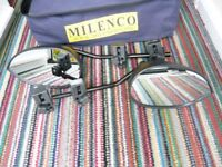 MILENCO AERO 3 TWIN PACK TOWING MIRROWS WITH CARRY CASE USED ONCE