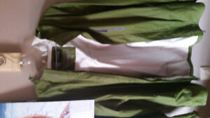 Men's 2xl windriver windbreaker with hood olive green
