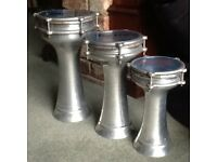 "Darbuka Drums X 3; 6""; 7""; and 8""; quality by number of tuning points."