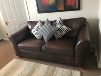 Abbey full leather, three seater. Marks and Spencer's sofa.