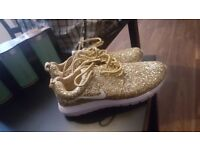 Womans glitter trainers size 8