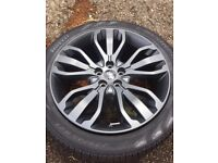 """LAND ROVER ALLOY WHEELS 21"""" BRAND NEW WITH TYRES"""