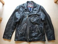 Mens Real Leather Jacket/Biker *NEAR MINT CONDITION*