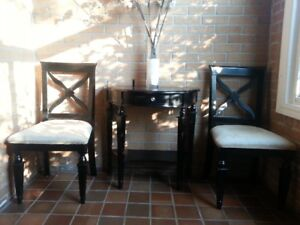 Rustic Country Console and Chairs