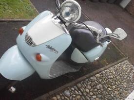 moped runs well mot til November £ 230