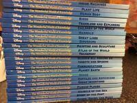 Disney the wonderful world of knowledge 23 books collection dereham