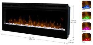 "DIMPLEX PRISM 50"" WALL MOUNT ELECTRIC FIREPLACE"