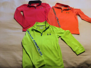 Lot of 3 Under Armour long sleeve zip ups