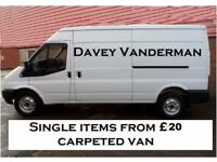 Man and van from £20 for single items in the Liverpool area