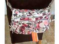New Kipling Bora shoulder bag in Leopard Spots