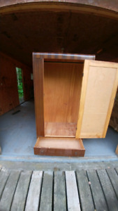 Antique ( old ) clothes closet with mirror and drawer