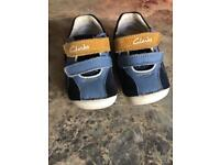 Size 4F clarks first shoes