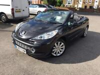 2007 PEUGEOT 207cc 1.6 CONVERTIBLE LOW MILES 53k FSH 1 F KEEPER LEATHERS 3 MONTHS WARRANTY