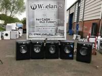 Selection of black washing machine