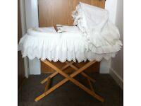Moses Basket/Mattress and sheets