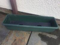 Green plastic window box