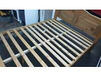 King size bed frame.