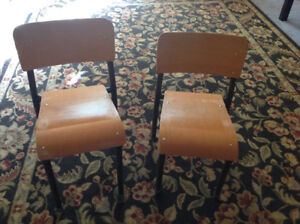 TWO CHILDS VINTAGE CHAIRS