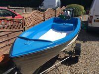 10ft Seahog fibreglass fishing boat