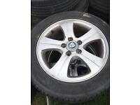 Jaguar Alloys with New Tyres 16""