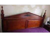 Vintage Barker & Stonehouse bedroom set, hard wood bed frame, large wardrobe, side cabinets & mirror