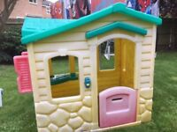 Little Tikes Playhouse, side panels a little faded by the sun. Free delivery to local Areas.