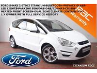 2011 Ford S-MAX 2.0TDCi (140ps) Titanium-B.TOOTH-PARK SENSORS-1 X OWNER-F.S.H.