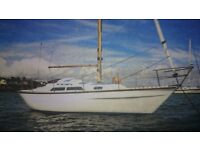 VARNE 27FT SAILING CRUISER WITH 13HP VOLVO, WELL EQUIPPED £4950