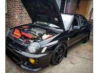 SUBARU IMPREZA WRX 2002 - NEWER ENGINE WITH 2.5 BLOCK FITTED (ONLY DONE 50K) PROOF AND FSH ETC! MINT