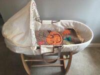 Shnuggle Moses basket and rocking stand