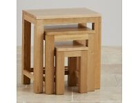WANTED PLEASE - Solid oak nest of tables