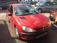 Peugeot 206 1.1 2003 in excellent condition drives excellent 1 year MOT