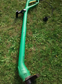 Small electric strimmer.