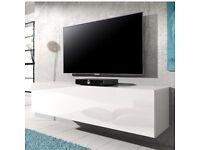Hi Gloss White Floating TV Unit (140cm)