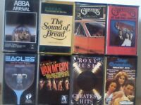ABBA, BREAD, CARPENTERS, EAGLES, VAN McCOY, ROXY MUSIC, SILVER CONVENTION PRERECORDED CASSETTE TAPES