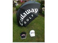 Reduced - Callaway Golf Umbrella and Hats