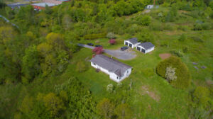 NEW PRICE!!! House & 2 double garages on 11+acres in Quispamsis!