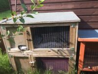 Double rabbit hutch fir sale need slight repair bargain £23