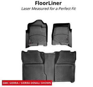 GMC Sierra weather tech floor liners